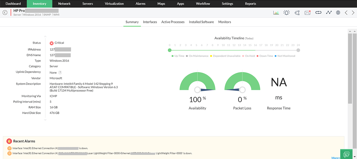 Server Performance Management & Monitoring Tools - ManageEngine OpManager