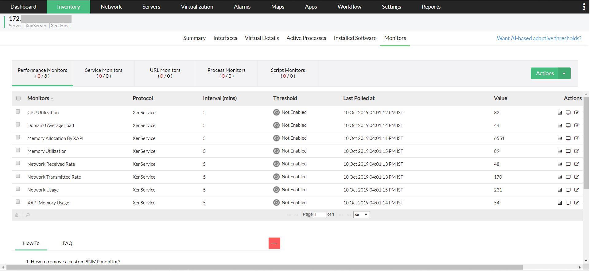 Comprehensive XenServer infrastructure monitoring