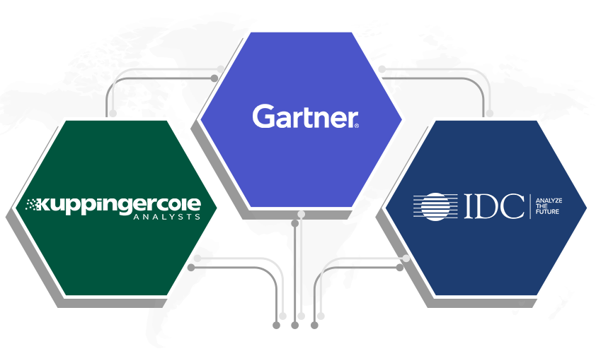 Recognized in the 2019 Gartner Magic Quadrant, Forrester Wave, and IDC MarketScape.