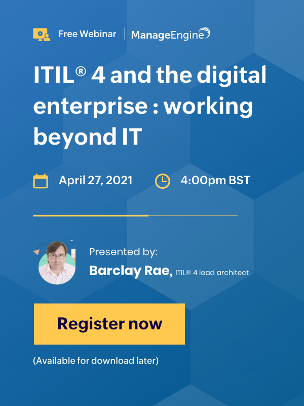ITIL 4 webinar with Barclay Rae