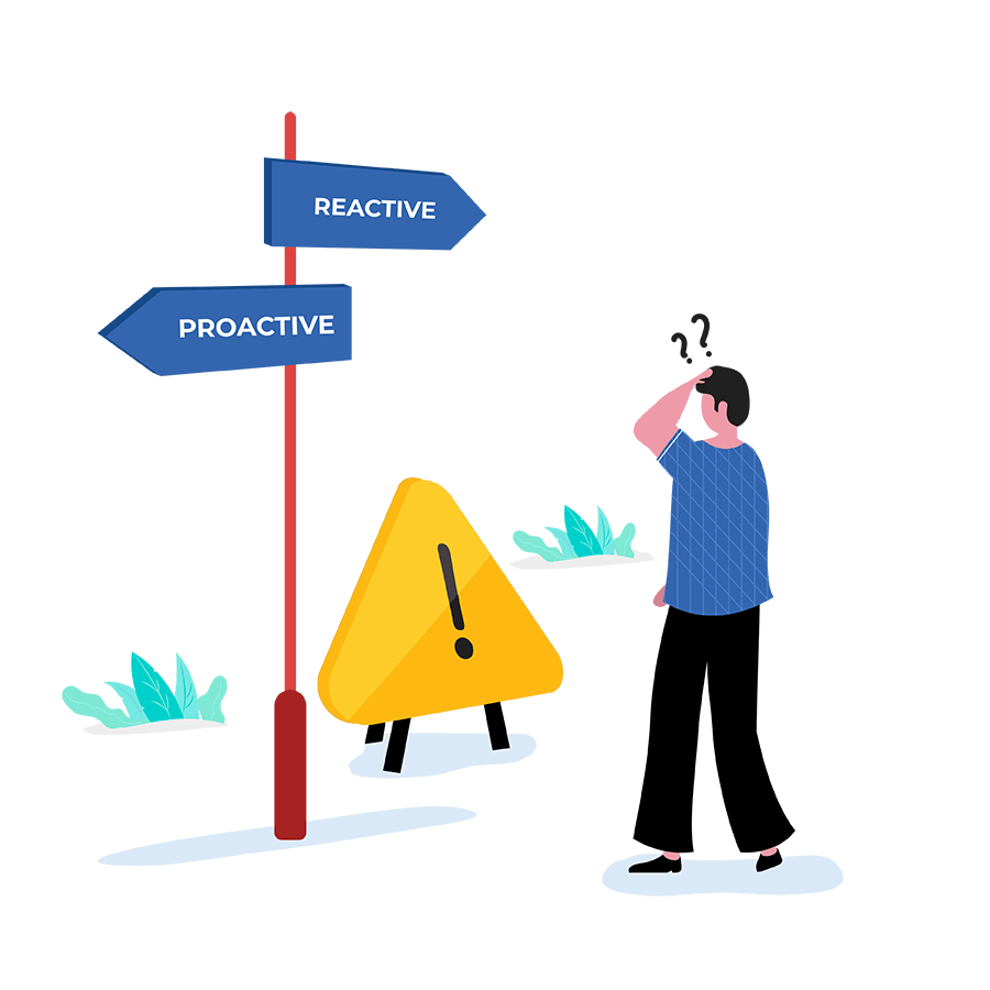 how to implement reactive and proactive problem management