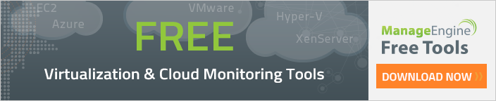 Other Free Virtualization and Cloud Monitoring Tools from ManageEngine